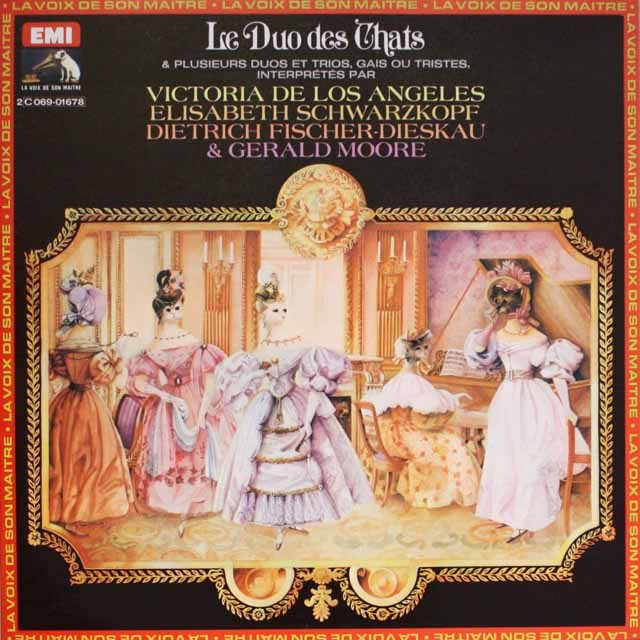 シュヴァルツコップ,ロス・アンヘレス、ディースカウらの重唱歌集  仏EMI(VSM)   3327 LP レコード
