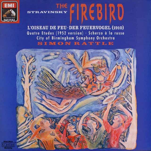 ラトルのストラヴィンスキー/「火の鳥」  独EMI   2608 LP レコード