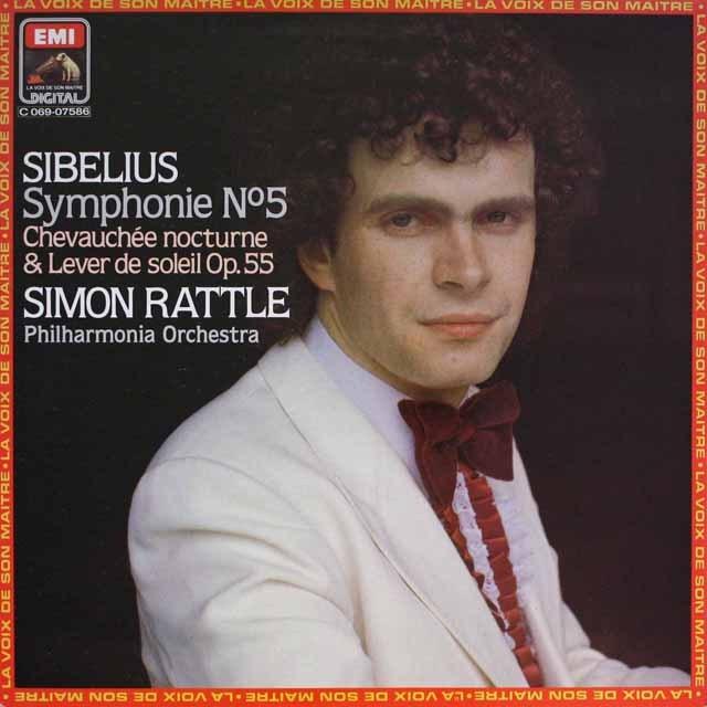 ラトルのシベリウス/交響曲第5番ほか  仏EMI(VSM)   2608 LP レコード