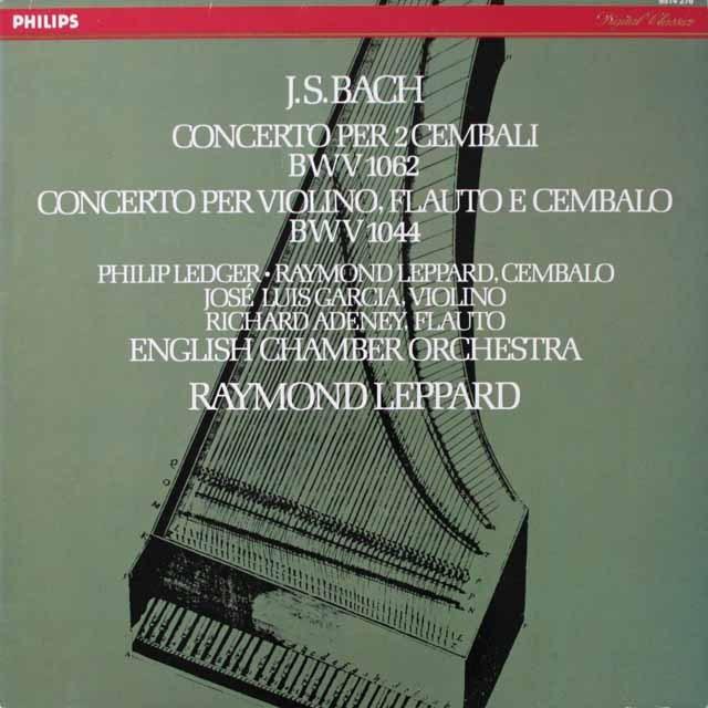 レッパードのバッハ/2台のチェンバロのための協奏曲第3番ほか 蘭PHILIPS 3333 LP レコード