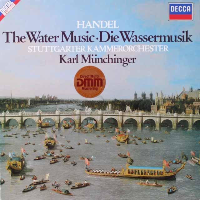 ミュンヒンガーのヘンデル/「水上の音楽」  独DECCA  2618 LP レコード