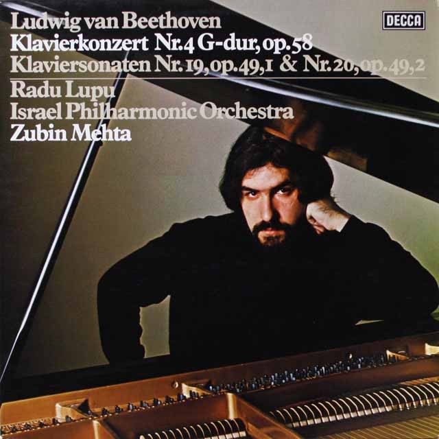 ルプー&メータのベートーヴェン/ピアノ協奏曲第4番ほか  独DECCA  2618 LP レコード
