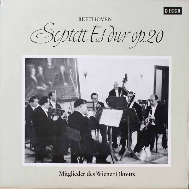 ウィーン・オクテットのベートーヴェン/七重奏曲 独DECCA 3334 LP レコード