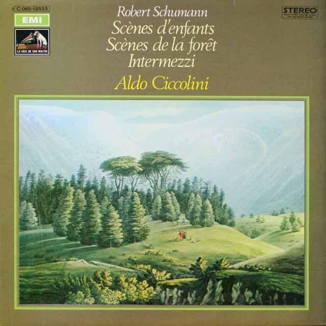 チッコリーニのシューマン/子供の情景ほか 仏EMI(VSM) 3334 LP レコード