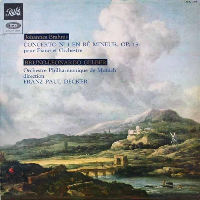 ゲルバーのブラームス/ピアノ協奏曲第1番 仏EMI(VSM) 3334 LP レコード