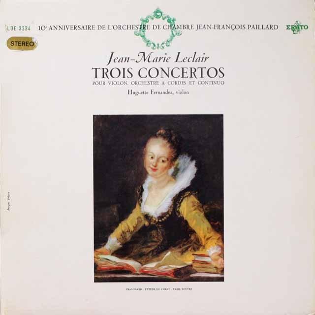 フェルナンデスのルクレール/ヴァイオリン協奏曲集 仏ERATO 3334 LP レコード