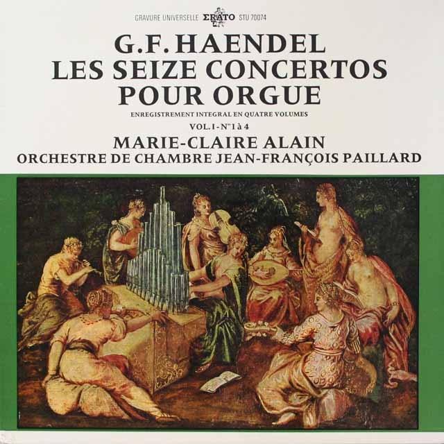 アラン&パイヤールのヘンデル/オルガン協奏曲集(1) 仏ERATO  2618 LP レコード