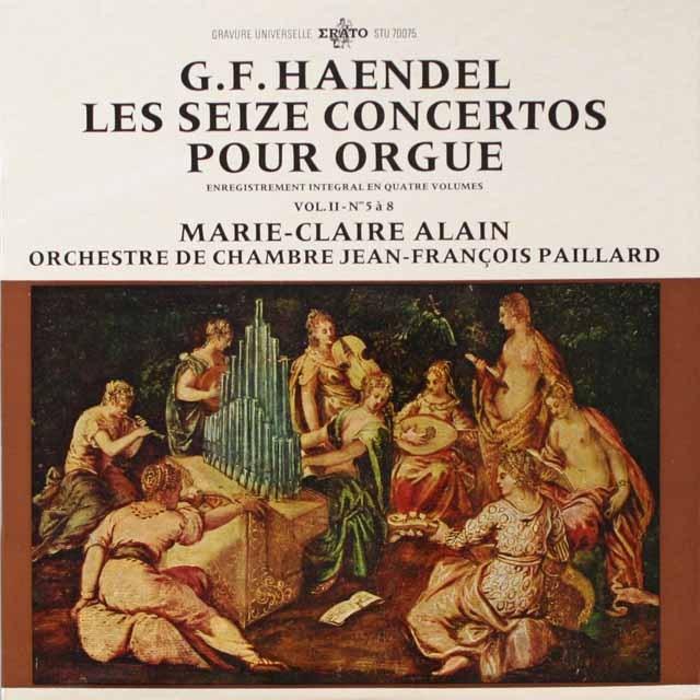 アラン&パイヤールのヘンデル/オルガン協奏曲集(2) 仏ERATO  3334 LP レコード