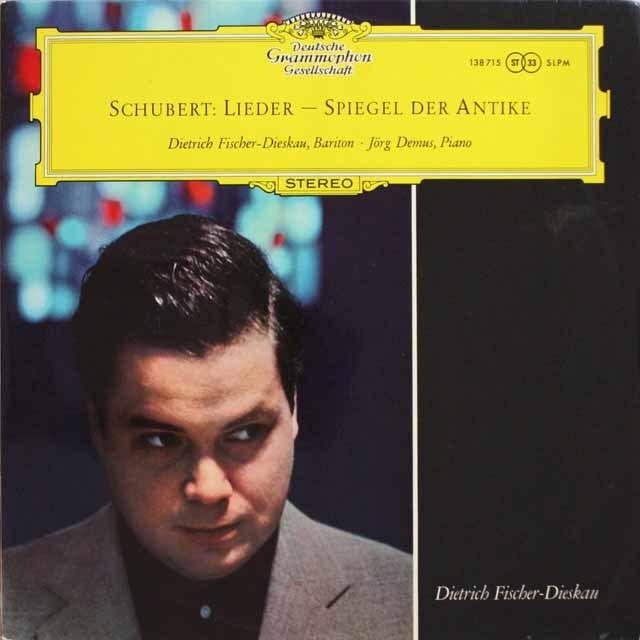 D.F=ディースカウのシューベルト/古代ギリシャ主題の歌曲集 独DGG 3331 LP レコード