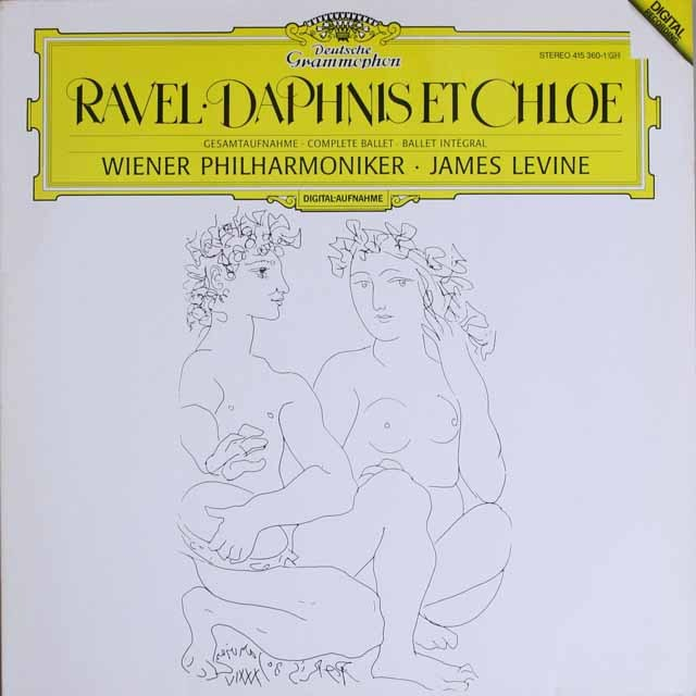 レヴァインのラヴェル/「ダフニスとクロエ」 独DGG 3331 LP レコード