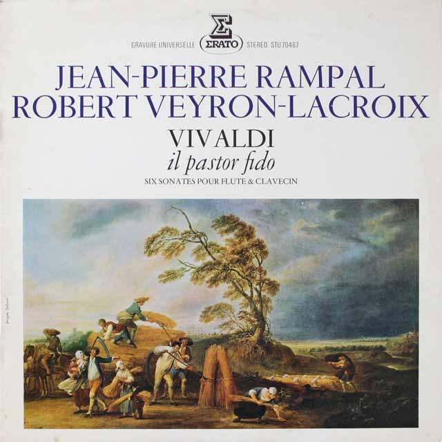 ランパル、ラクロワのソナタ「忠実な羊飼い」 仏ERATO 3331 LP レコード