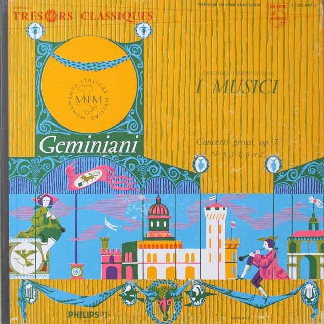 イ・ムジチ合奏団のジェミニアーニ/8声の合奏協奏曲集 仏PHILIPS 3332 LP レコード