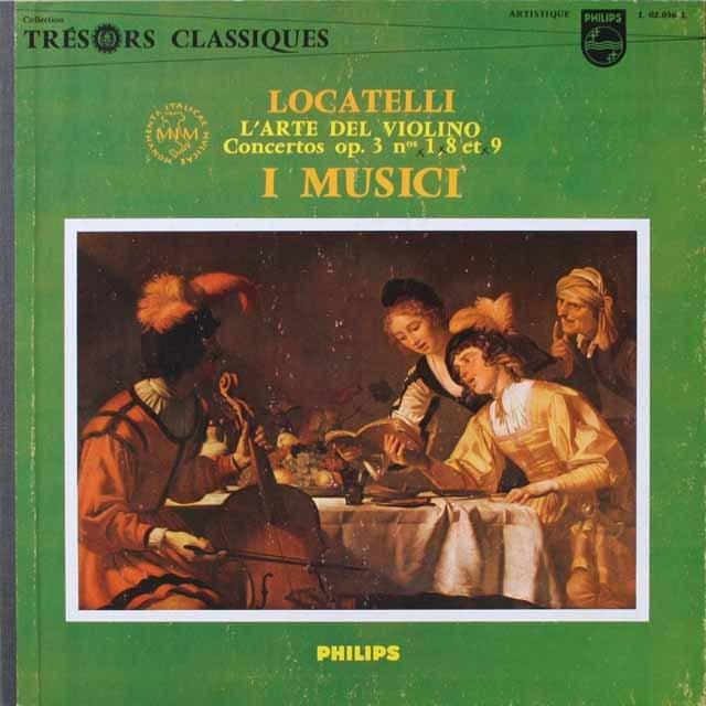 イ・ムジチ合奏団のロカテッリ/ヴァイオリンの技芸 仏PHILIPS 3332 LP レコード
