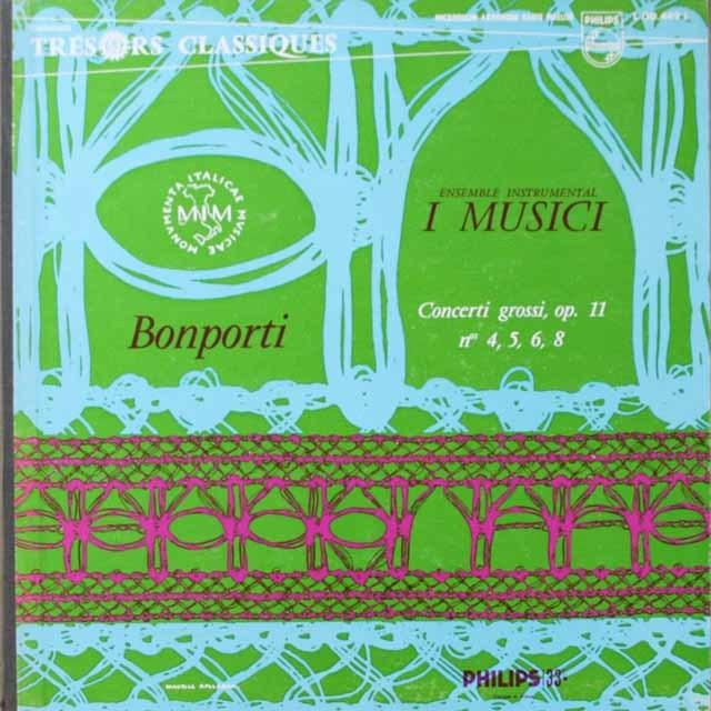 イ・ムジチ合奏団のボンポルティ/弦楽のための協奏曲 仏PHILIPS 3332 LP レコード