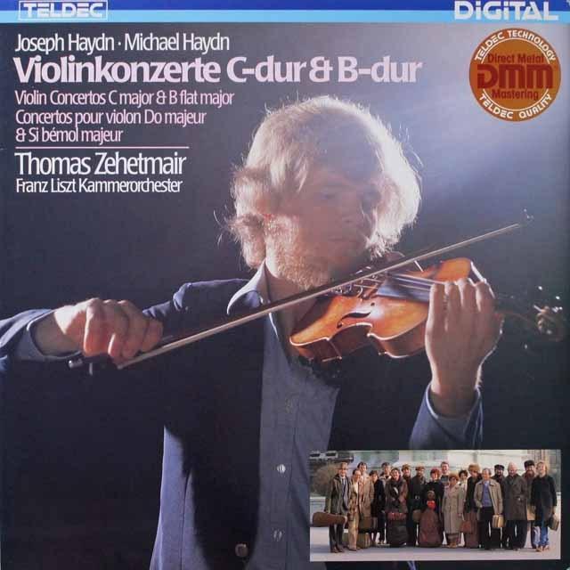 ツェートマイヤーのハイドン/ヴァイオリン協奏曲集 独TELDEC 3321 LP レコード