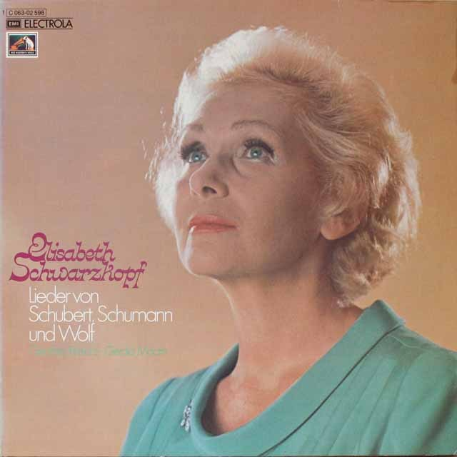 シュヴァルツコップのシューベルト、シューマン&ヴォルフ歌曲集 独EMI 2602 LP レコード