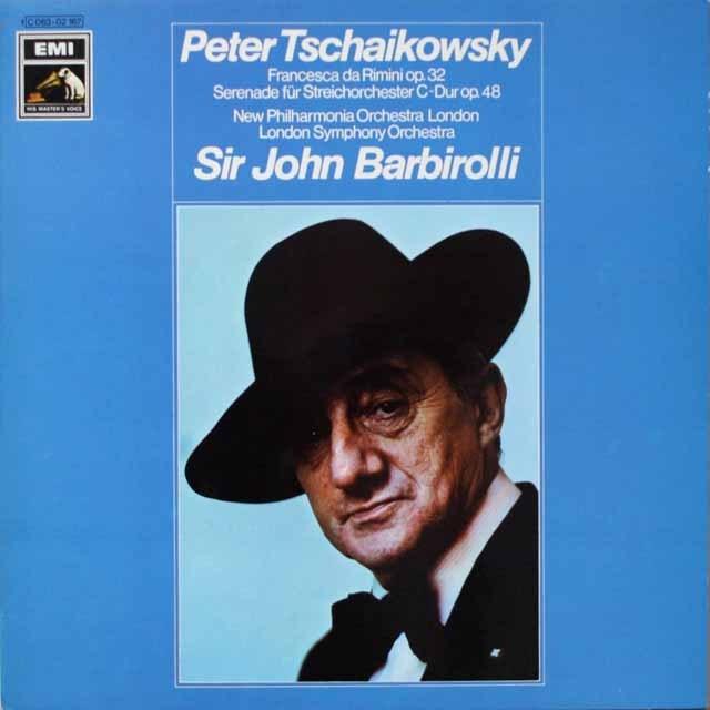 バルビローリのチャイコフスキー/幻想曲「フランチェスカ・ダ・リミニ」ほか 独EMI 3321 LP レコード
