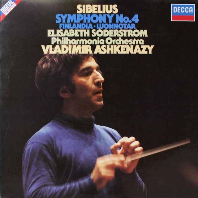 アシュケナージのシベリウス/交響曲第4番 独DECCA 3321 LP レコード