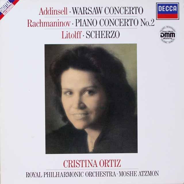 オルティスのラフマニノフ/ピアノ協奏曲第2番ほか 独DECCA 3321 LP レコード