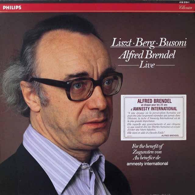 ブレンデルのリスト、ベルク&ブゾーニ小品集(ライヴ録音) 蘭PHILIPS  3321 LP レコード