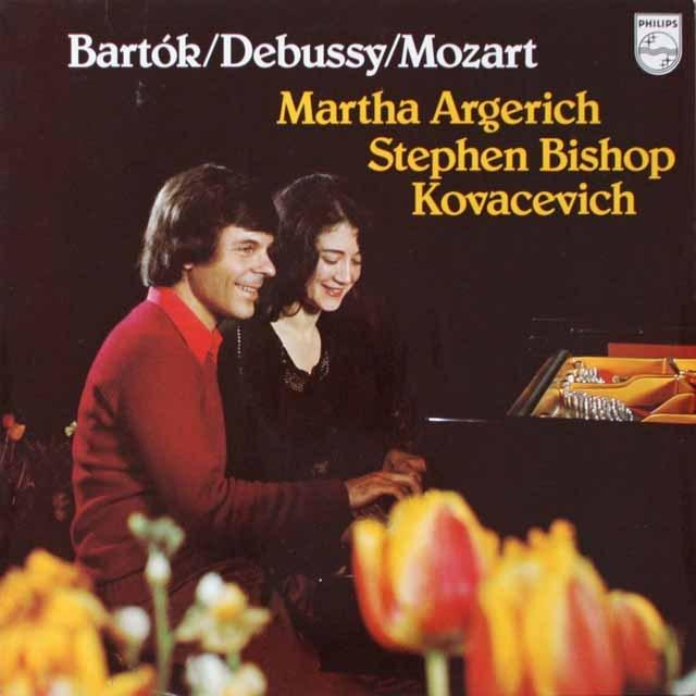 アルゲリッチ&コヴァセヴィチのバルトーク、モーツァルト&ドビュッシー/2台のピアノのための作品集 蘭PHILIPS 3321 LP レコード