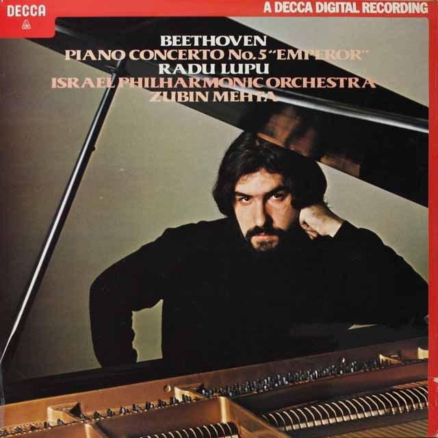 ルプー&メータのベートーヴェン/ピアノ協奏曲第5番「皇帝」 英DECCA 2602 LP レコード