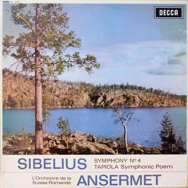 アンセルメのシベリウス/交響曲第4番ほか 英DECCA 3321 LP レコード