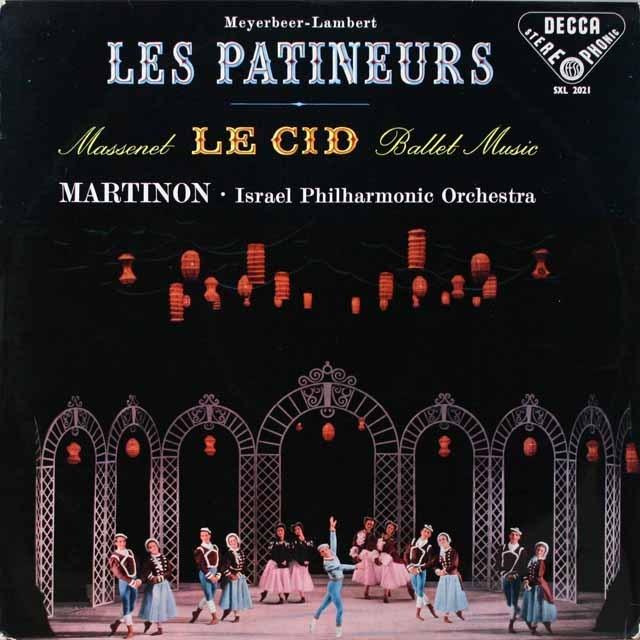 【オリジナル盤】 マルティノンのマスネ/「ル・シッド」ほか 英DECCA 3321 LP レコード