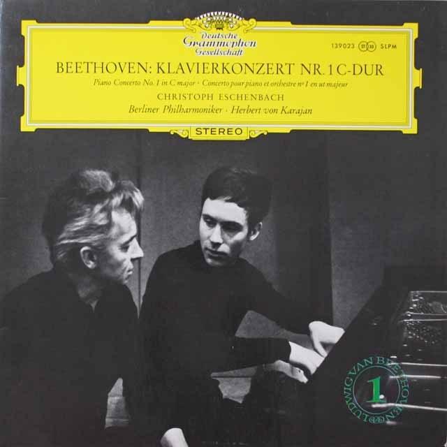 エッシェンバッハ&カラヤンのベートーヴェン/ピアノ協奏曲第1番 独DGG 2603 LP レコード