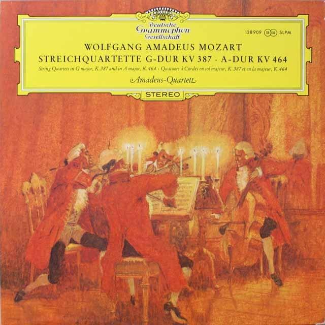 アマデウス四重奏団のモーツァルト/弦楽四重奏曲第14&18番 独DGG 3321 LP レコード