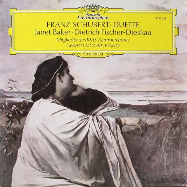 ベイカー&F=ディースカウののシューベルト/二重唱集 独DGG 3322 LP レコード