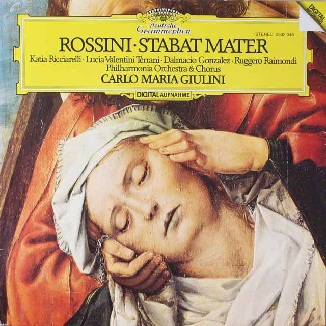 ジュリーニのロッシーニ/「スターバト・マーテル」 独DGG 3323 LP レコード