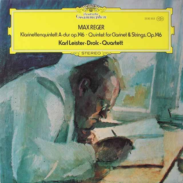 ライスター&ドロルツ四重奏団のレーガー/クラリネット五重奏曲  独DGG 2603 LP レコード