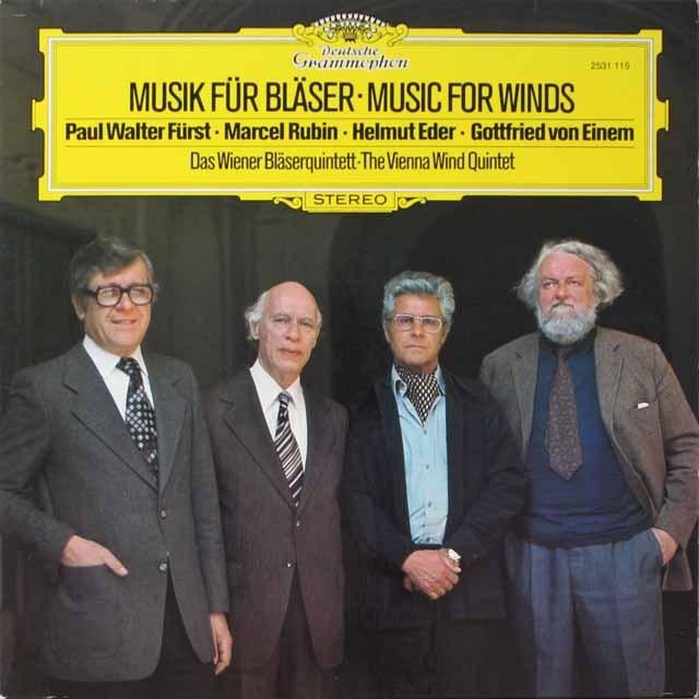 ウィーン木管五重奏団による現代音楽集  独DGG 3323 LP レコード