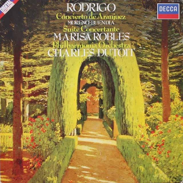 ロブレス&デュトワのロドリーゴ/アランフエス協奏曲ほか 蘭DECCA 2603 LP レコード