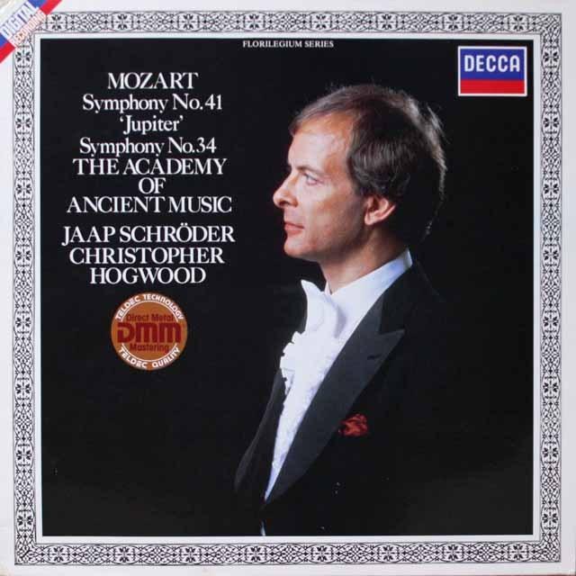 ホグウッドのモーツァルト/交響曲第34&41番「ジュピター」 独DECCA 2603 LP レコード