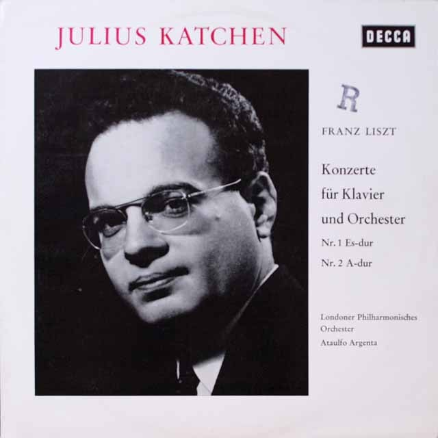 カッチェン&アルヘンタのリスト/ピアノ協奏曲第1&2番 独DECCA 2603 LP レコード