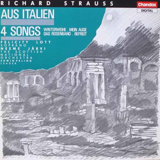 ネーメ・ヤルヴィのR.シュトラウス/交響的幻想曲「イタリアから」ほか 独Chandos 3323 LP レコード