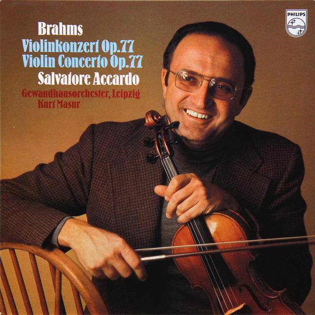 アッカルド&マズアのブラームス/ヴァイオリン協奏曲 蘭PHILIPS 2727 LP レコード