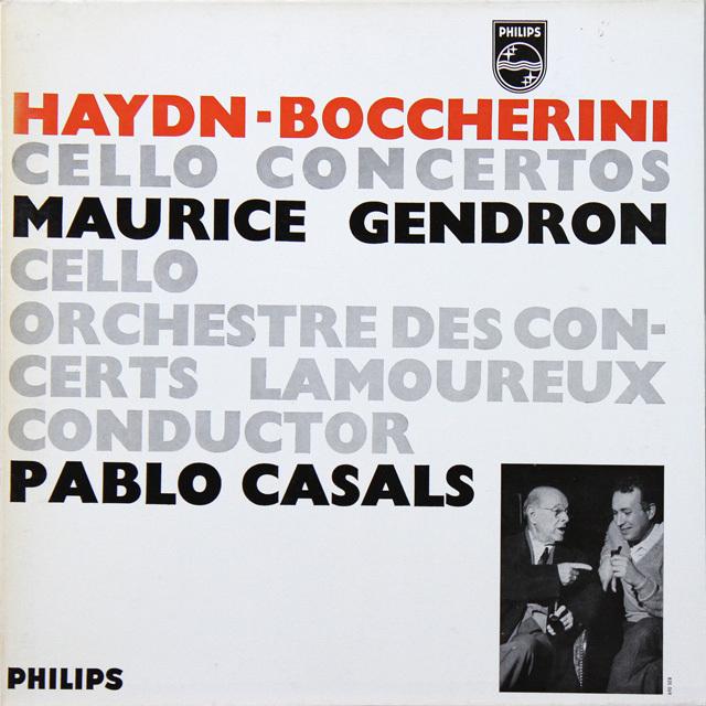 カザルス&ジャンドロンのハイドン&ボッケリーニ/チェロ協奏曲集 蘭PHILIPS 3290 LP レコード