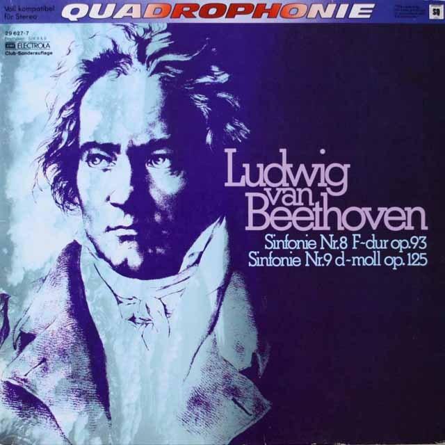 ケンペのベートーヴェン/交響曲第8&9番 独EMI 2604 LP レコード