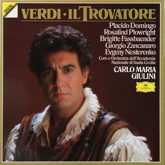 ドミンゴ&ジュリーニのヴェルディ/「トロヴァトーレ」 独DGG 2726 LP レコード