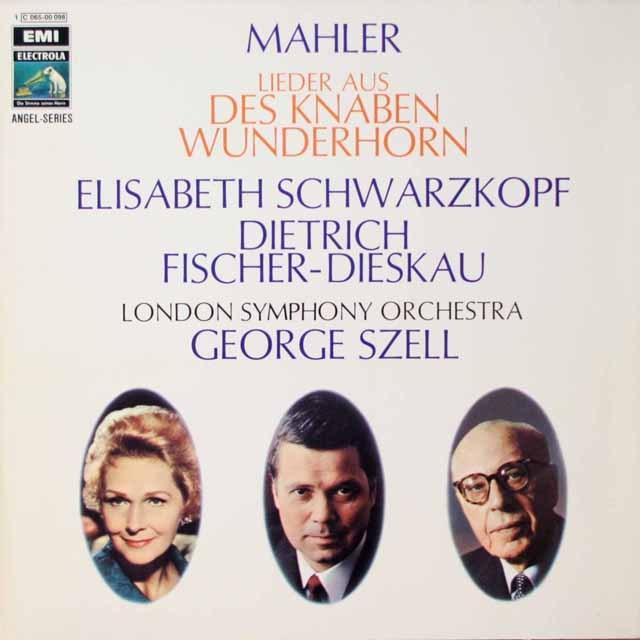 シュヴァルツコップ、フィッシャー=ディースカウ、セルのマーラー/少年の魔法の角笛 独EMI 3324 LP レコード