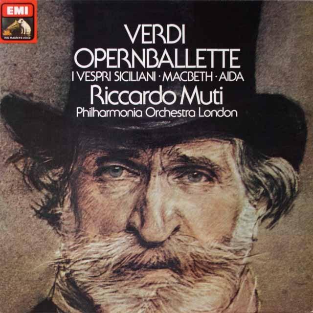 ムーティのヴェルディ/オペラのバレエ音楽 独EMI 3324 LP レコード