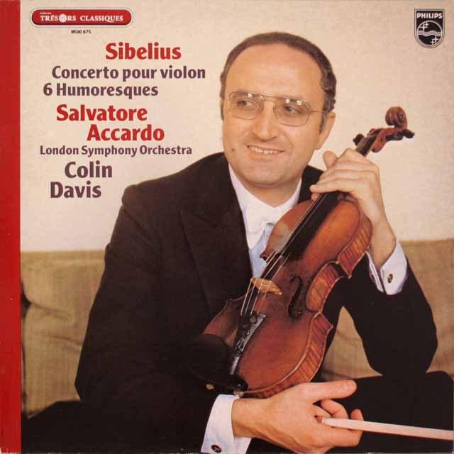 アッカルド&デイヴィスのシベリウス/ヴァイオリン協奏曲 仏PHILIPS   2622 LP レコード
