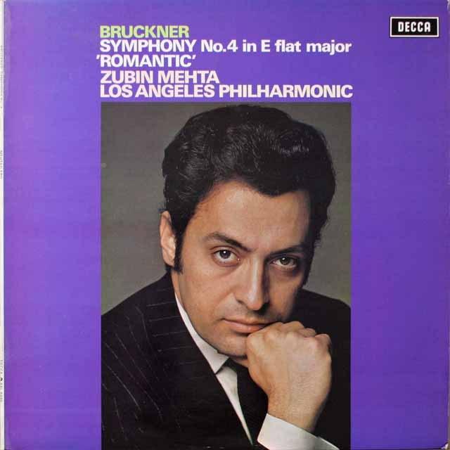 【オリジナル盤】 メータのブルックナー/交響曲第4番「ロマンティック」 英DECCA 3324 LP レコード
