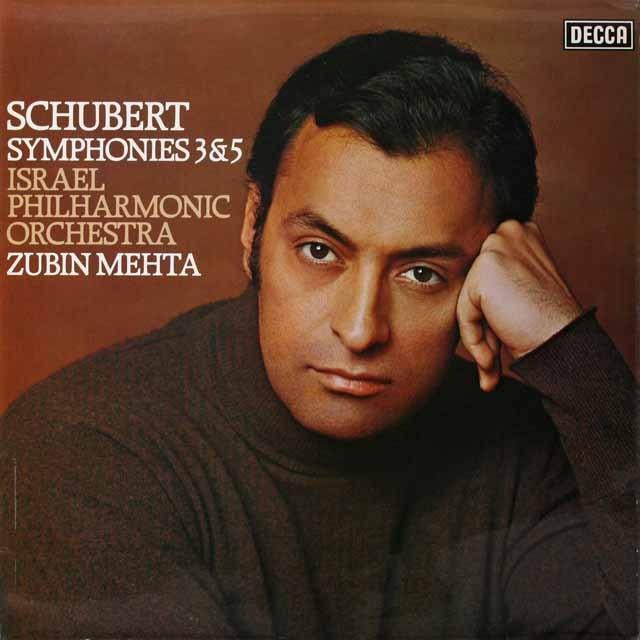 【オリジナル盤】 メータのシューベルト/交響曲第3、5番 英DECCA 3324 LP レコード