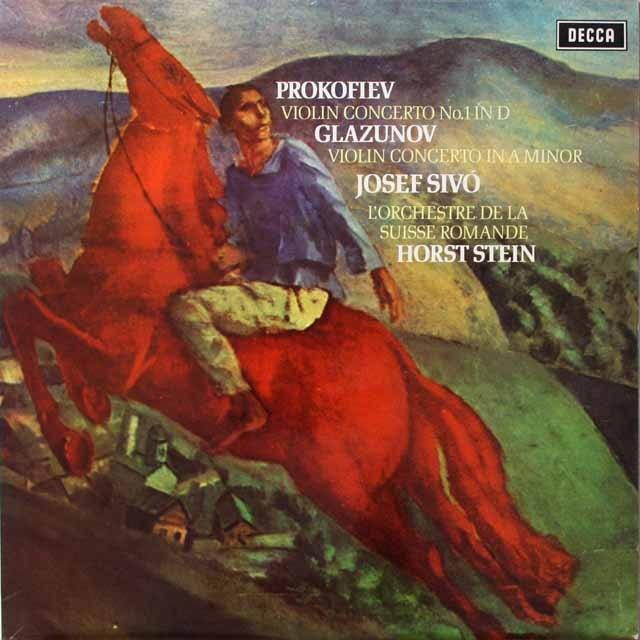 【オリジナル盤】 シヴォー、シュタインのプロコフィエフ/ヴァイオリン協奏曲ほか 英DECCA 3324 LP レコード