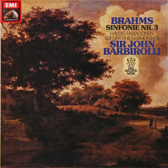 バルビローリのブラームス/交響曲第3番 独EMI 2726 LP レコード