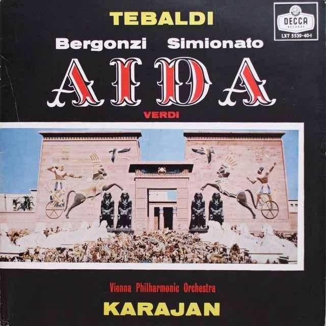 カラヤンのヴェルディ/「アイーダ」 英DECCA モノラル 2604 LP レコード